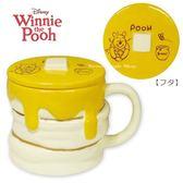 日本限定 迪士尼 小熊維尼 鬆餅造型 馬克杯 (附蓋)