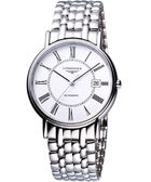LONGINES 浪琴 Presence 經典羅馬機械腕錶/手錶-白 L49214116