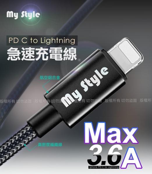 MyStyle Mini迷你PD快充 Type-C+QC3.0 雙孔急速充電器+MyStyle C to Lightning耐彎折編織線-黑色組/白銀組