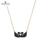 施華洛世奇 Iconic Swan Double 經典雙天鵝黑色水晶項鏈
