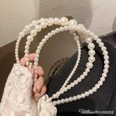 髮箍復古少女 簡約百搭珍珠發箍頭箍壓發發卡淑女氣質發帶韓國發飾女 阿卡娜