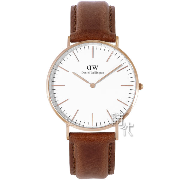 【台南 時代鐘錶 Daniel Wellington】簡約男錶 Classic St Mawes Rose Gold 40mm 0106DW DW00100006