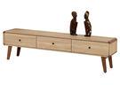 【森可家居】柏克6尺電視櫃 7ZX364-4 長櫃 木紋質感 無印風 北歐風 MIT台灣製造