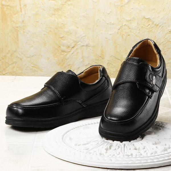 SARTORI 黏帶飾釦休閒皮鞋 黑 男款