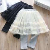 蕾絲中長紗裙內搭褲裙 大童 聖誕 橘魔法 Baby magic 現貨  長褲 褲裙 紗裙 女童