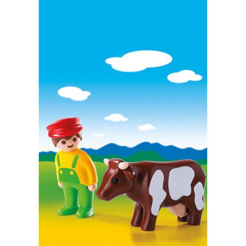 playmobil 123series 小農夫與牛_PM06972