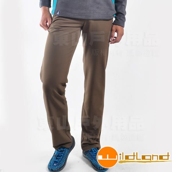 Wildland 荒野 0A22306-63卡其色 男彈性保暖長褲