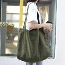 帆布袋 側背包 素色 輕便 簡約 帆布包...