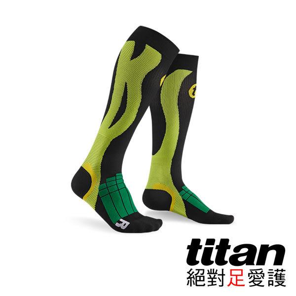 Titan 壓力運動襪Elite 綠/黑