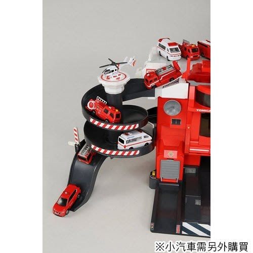 《 TAKARA TOMY 》交通世界 遙控聲光消防局╭★ JOYBUS玩具百貨
