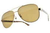 GUCCI太陽眼鏡 GG0528S 008 (金琥珀-棕鏡片) 經典側面LOGO飛官款 # 金橘眼鏡