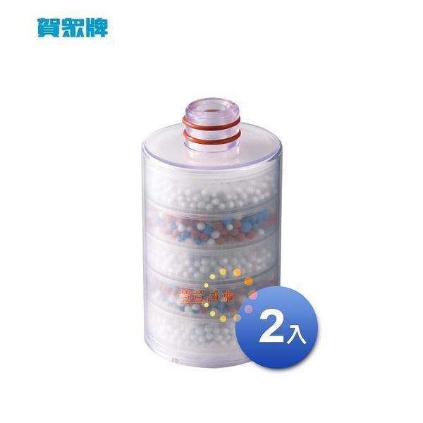 賀眾牌UP-26奈米晶透美肌沐浴用專用MF-543CASC-2維生素C 替換濾芯(兩支入)荳荳淨水