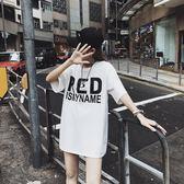 海外直發不退換純棉短袖t恤大碼女裝夏裝新款女裝中長款9005(T270A)愛尚布衣