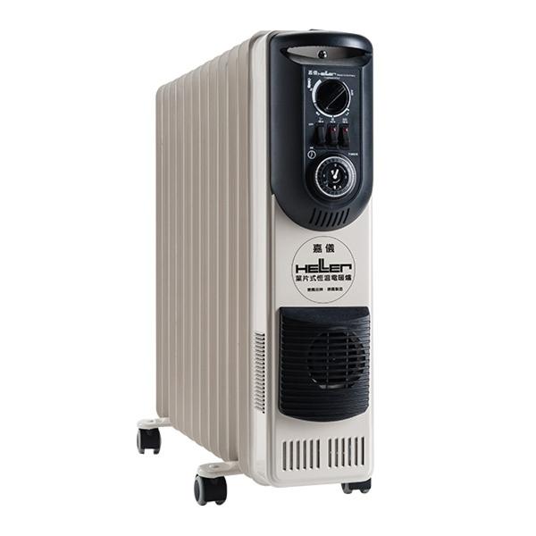 HELLER德國 嘉儀葉片式 電暖器 12片 KE212TF 多項國家級安全認證 高科技恆溫不耗氧