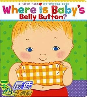 [ 美國直購 2016 暢銷書] Where Is Baby s Belly Button  A Lift-the-Flap Book