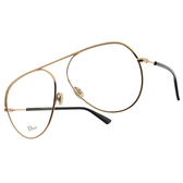 DIOR 光學眼鏡 ESSENCE 15 DDB (玫瑰金) 復古 經典 飛行款 飛官 大鏡框 鏡架 # 金橘眼鏡