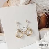耳墜女氣質韓國無耳洞耳夾長款耳環純銀耳釘耳飾【時尚大衣櫥】