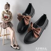 英倫風小皮鞋女鞋子2020新款女秋鞋子女潮鞋百搭加絨冬季女鞋【果果新品】