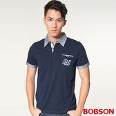 【BOBSON】男款配牛津布POLO衫(27006-53)