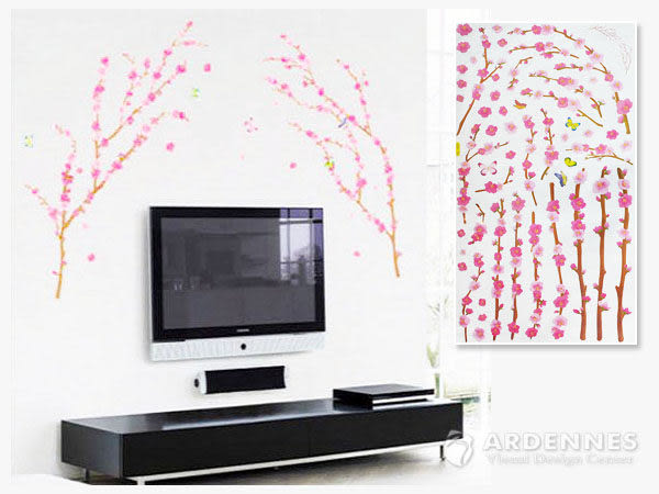 ARDENNES】創意組合DIY壁貼/牆貼/兒童教室佈置 桃花朵朵開
