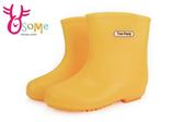 男女童雨鞋 素色舒適止滑耐穿 中大童雨鞋K7333#黃色◆OSOME奧森鞋業