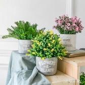 假草盆仿真花插花塑料假花室內茶幾擺設裝仿真植物 QW5861『夢幻家居』
