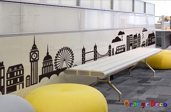 壁貼【橘果設計】摩天輪 DIY組合壁貼/牆貼/壁紙/客廳臥室浴室幼稚園室內設計裝潢