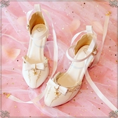 洛麗塔鞋子學生可愛日系少仙女的蘿莉圓頭中高跟Lolita軟妹涼鞋