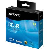 【免運費】SONY 6X BD-R 25GB 藍光燒錄光碟片(10片布丁裝)X1