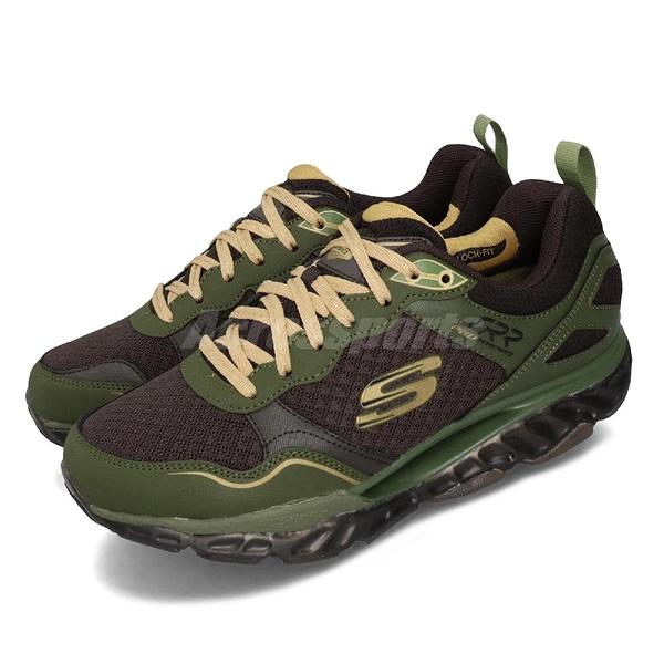 Skechers 慢跑鞋 SRR Pro-Resistance-Runaway 棕 綠 男鞋 運動鞋 【PUMP306】 999124BROL
