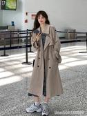 风衣外套 秋季氣質風衣女中長款小個子新款韓版寬鬆休閒百搭顯瘦外套潮 星河光年