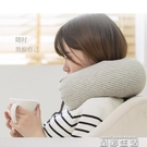 U型枕日式便攜純棉U型枕女男飛機旅行護頸枕坐車護脖枕腰枕午睡u形枕頭 晶彩