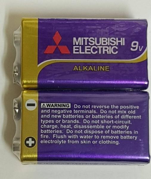 Enrgizer maxell MITSUBISHI9V鹼性電池 適用偵煙器 卡拉OK麥克風 網路線 測試儀 三用電表