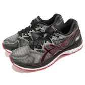 Asics 慢跑鞋 Gel-Nimbus 20 黑 紅 路跑 亞瑟膠 運動鞋 男鞋【PUMP306】 T800-N002