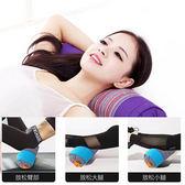 大號頸椎枕頭腿枕瑜伽練習純蕎麥皮枕頭圓形枕頭50*12cmigo    易家樂