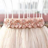 韓版女士水鑚細腰封百搭鬆緊寬腰帶女時尚小花朵夏季甜美裙子配飾 美芭