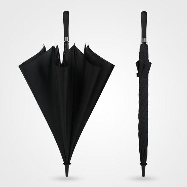 碳纖維直桿傘雙人長柄雨傘男女自動大號加固加大抗風廣告定制logo 芥末原創