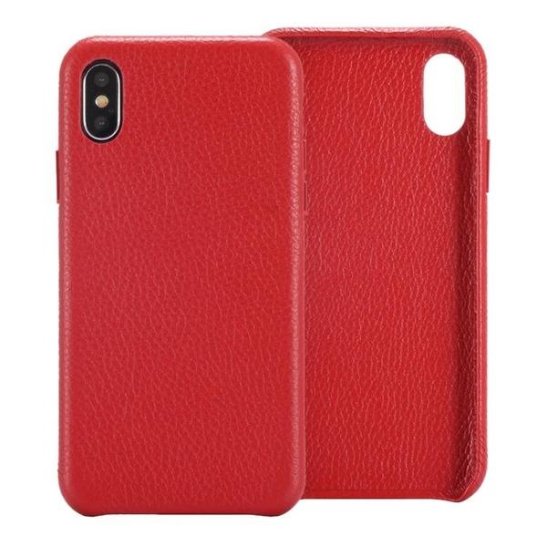 手機配件 適用頭層牛皮荔枝紋iPhone X商務手機殼超薄單底殼真皮保護殼手機殼 手機套 皮套