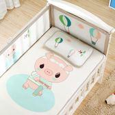 嬰兒涼席冰絲兒童嬰兒床涼席幼兒園寶寶專用席夏季新生兒午睡涼席   IGO