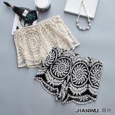 夏天三分保險褲薄款白色蕾絲短褲