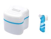 護立康假牙專用清潔盒附贈假牙專用刷/顏色隨機/收納盒/全新第二代