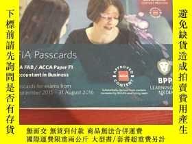 二手書博民逛書店FIA罕見Passcards FIA FAB ACCA Pape