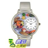 [美國直購 ] 手錶 Whimsical Watches Women s U1220037 Unisex Silver Holiday Feast Silver Leather And Silvertone Watch $1997