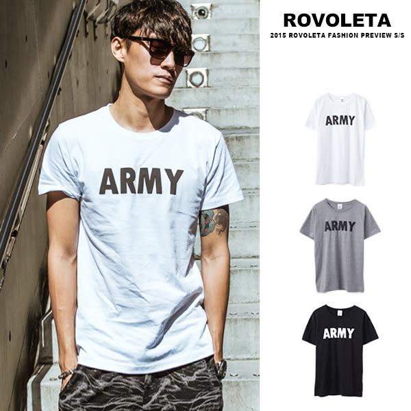 簡約ARMY短T【5V-7528】(ROVOLETA)
