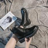 短靴 馬丁靴新款秋季女鞋百搭ins潮韓版英倫風學生時尚春秋短靴 海港城