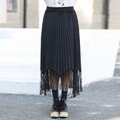 中大尺碼~褶裙設計半身裙(XL~3XL)
