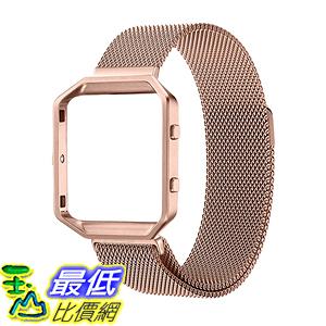 [美國直購] Frame Housing+Milanese loop 玫瑰金/黑色 不鏽鋼 錶帶 Large (6.3-9.1吋) Strap