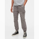 Gap男裝工裝風側邊口袋鬆緊腰休閒褲572195-灰色