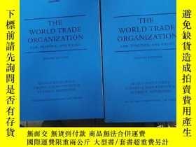 二手書博民逛書店THE罕見WORLD TRADE ORGANIZATION 國際
