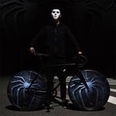 死飛自行車男女學生成人倒剎26寸封盤實心胎單車充氣公路車 【免運】